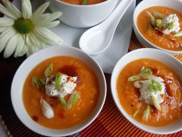 Chipotle Sweet Potato Soup a great idea for your Thanksgiving menu #ComidaKraft #ad