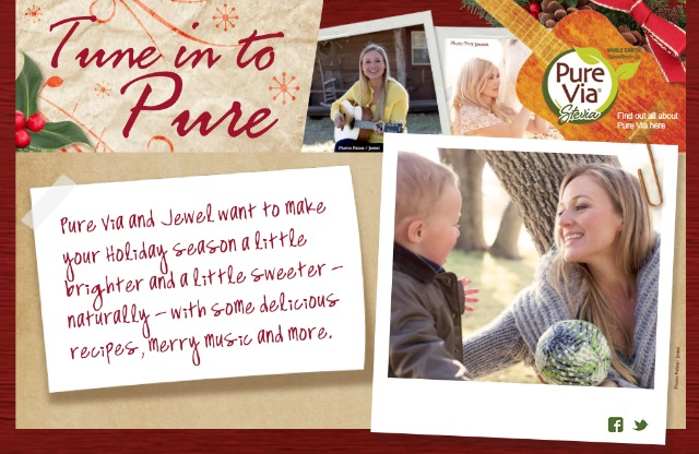 Pure Via and Jewel want to make your holiday season a little bit sweeter click on the photo to learn more #PureViaSweet #PMedia #ad
