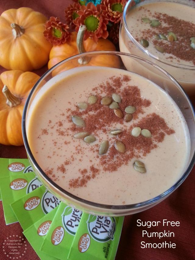 Sugar Free Pumpkin Smoothie with Non GMO SteviaPure Via tastes great!  #Pure ViaSweet #PMedia #ad