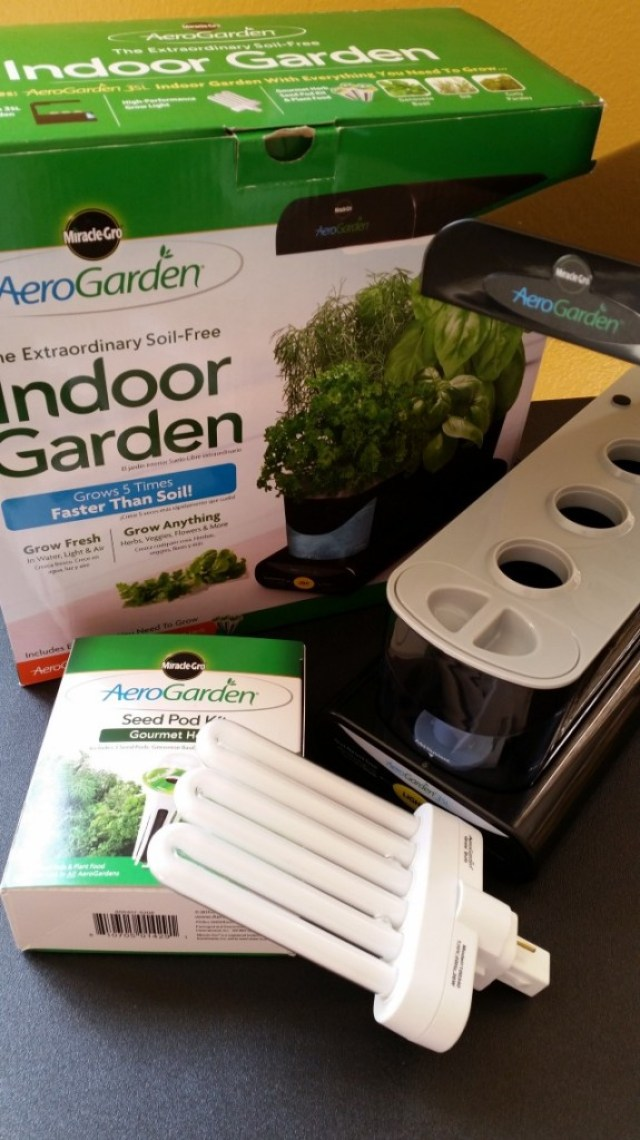 The Miracle-Gro AeroGarden 3SL is easy to assembly and fits anywhere #AeroGarden #ad