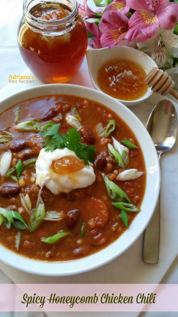 Honeycomb Chicken Chili Recipe #HoneyForHolidays #DonVictor #shop