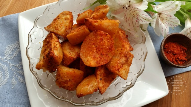 Serve the Sriracha Buttered Potato Bites on a bowl and eat as an appetizer or finger food #ABRecipes