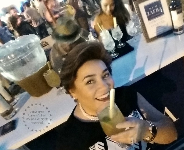 Adriana Martin enjoying some Guarapo with Zafra Rum