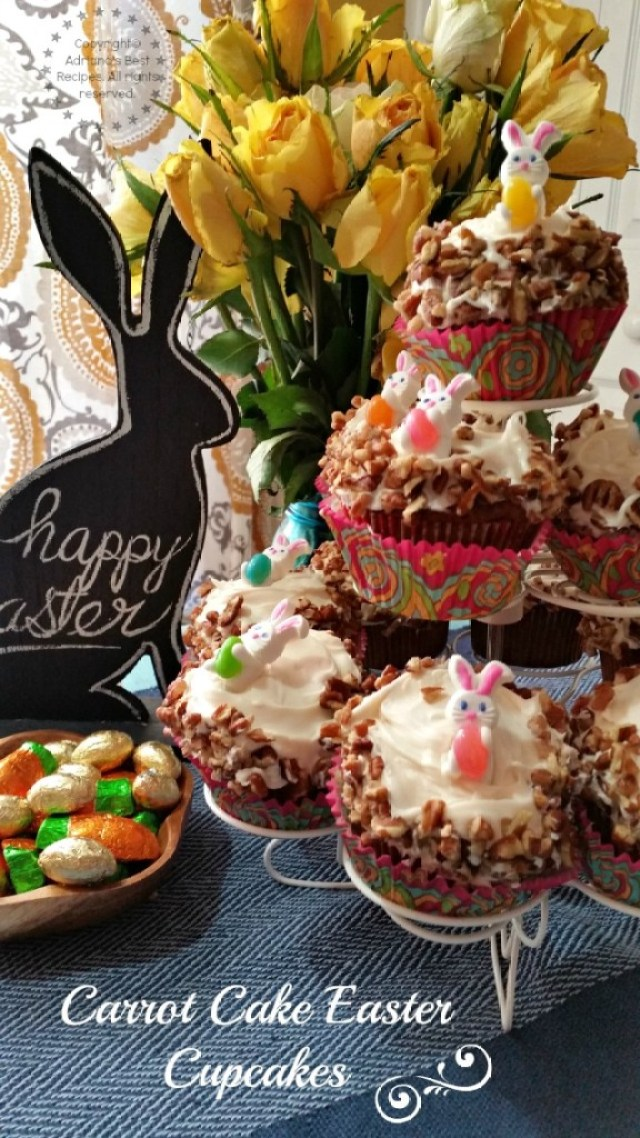 Carrot Cake Easter Cupcakes #ABRecipes