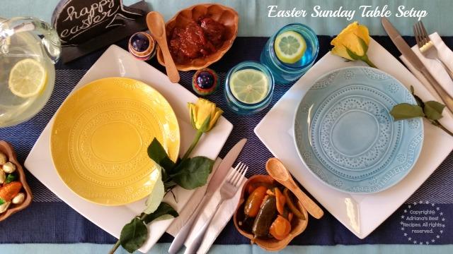 Easter Sunday Table Setup #VivaLaMorena #ad