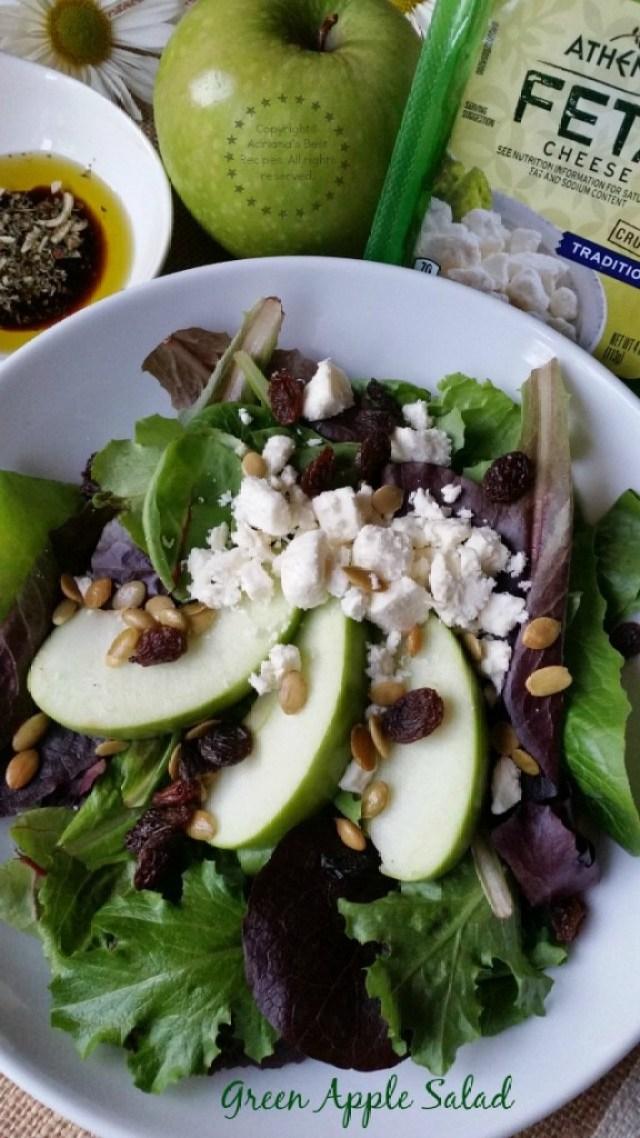Green Apple Salad Recipe #ComidaKraft #ad