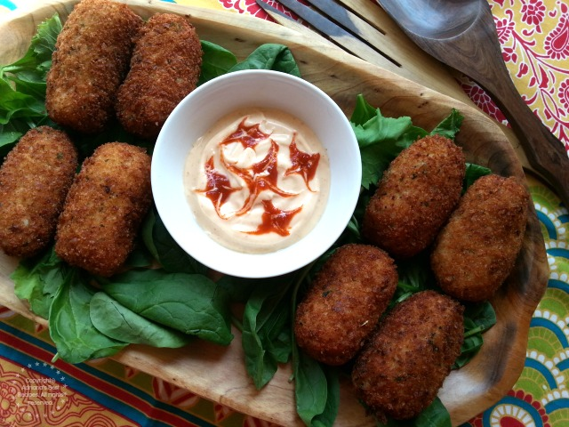 Salmon Croquettes a creative a food hack that is freezer friendly #ComidaKraft #ad