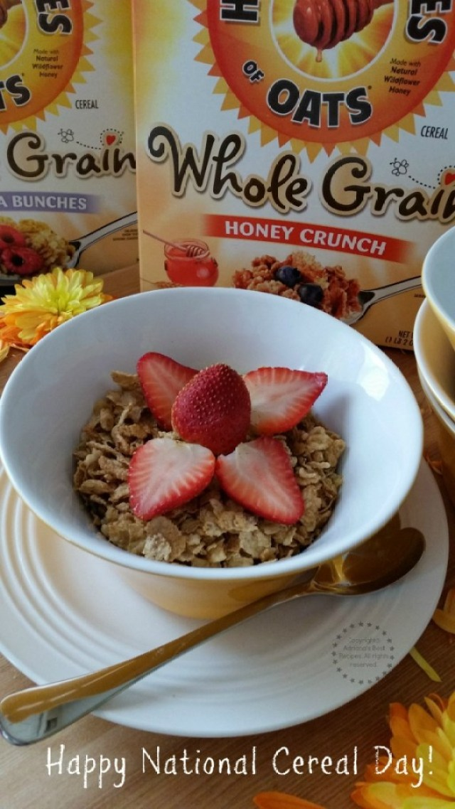 Happy National Cereal Day With Honey Bunches of Oats Whole Grain #HBOats #ad