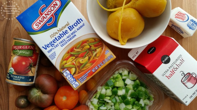Ingredients to make the Heirloom Tomato Bisque #ABRecipes