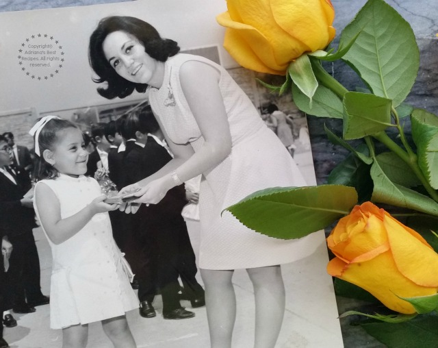 Adriana Martin and her mom on mothers day festival at school #DoinGood #Dime #ad