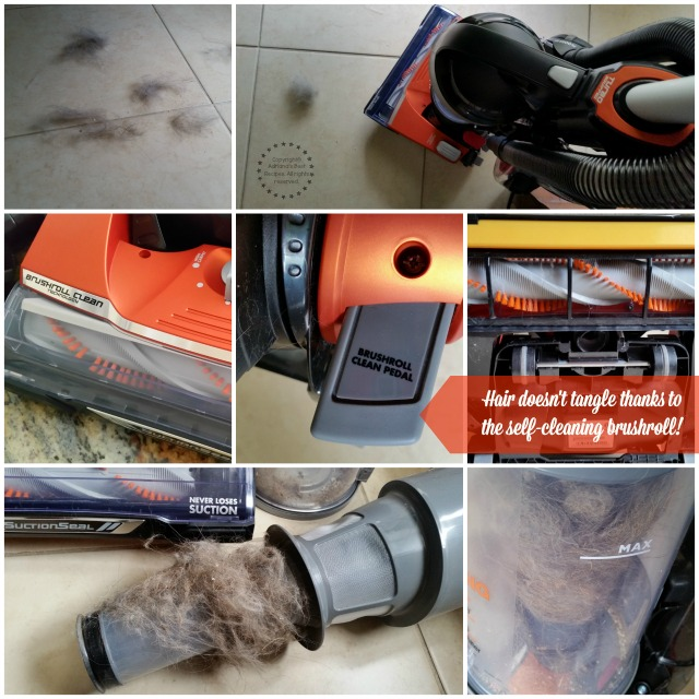 Hair doesn't tangle thanks to the self cleaning brushroll #CleaningUntangled #ad