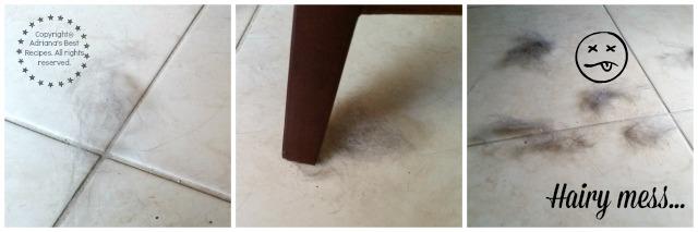 Hairy mess #CleaningUntangled #ad