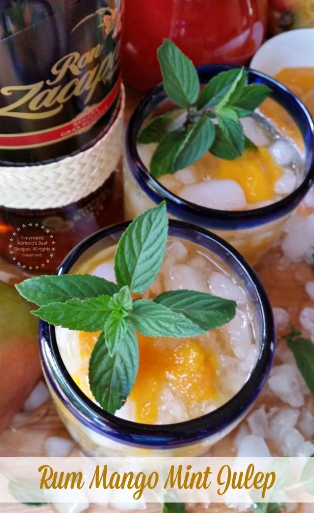 Te invito a probar este Julepe de Menta con Mango y Ron para celebrar el Día Nacional del Mint Julep
