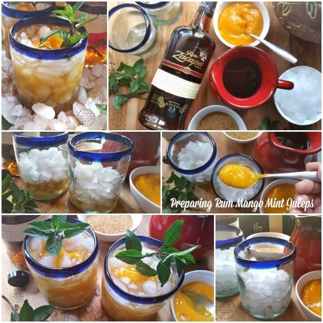 Preparando el Julepe de Menta con Mango y Ron