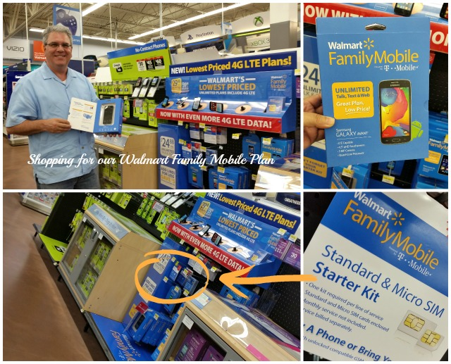 Shopping for our Walmart Family Mobile Plan #MobileMemories  #ad