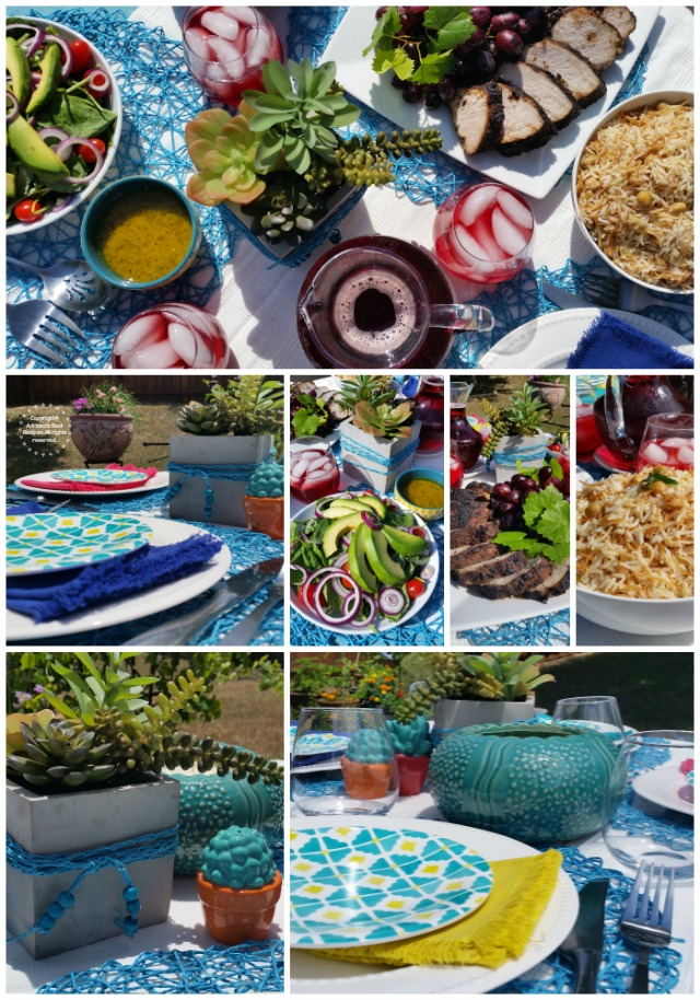 Summer Grilling Party Set-Up  #FlavorYourSummer  #ad