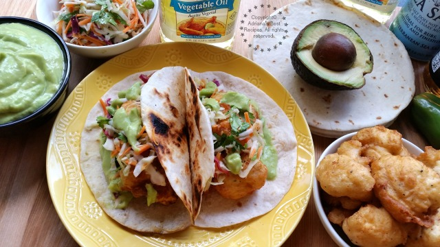 Beer Battered Cauliflower Tacos #SoyParaSoy #ad