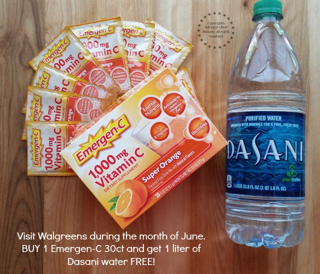 Buy 1 Emergen-C 30 count and get one liter of Dasani water FREE #HealthyAndHydrated #Ad