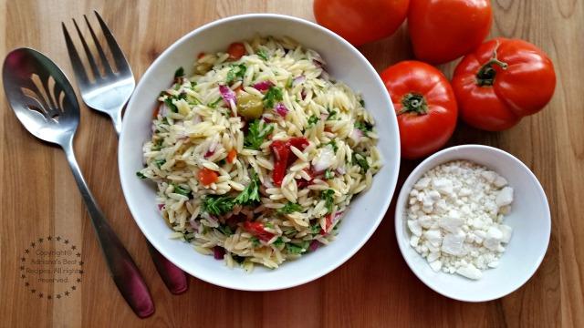 Fresh Greek Style Orzo Salad #ABRecipes