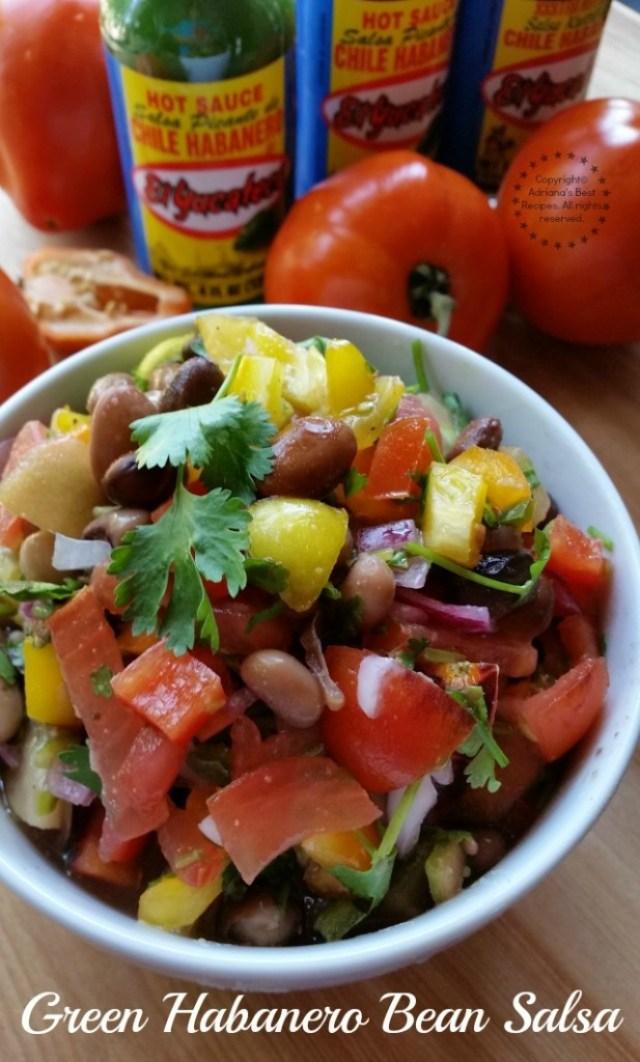 Green Habanero Bean Salsa #KingOfFlavor #ad