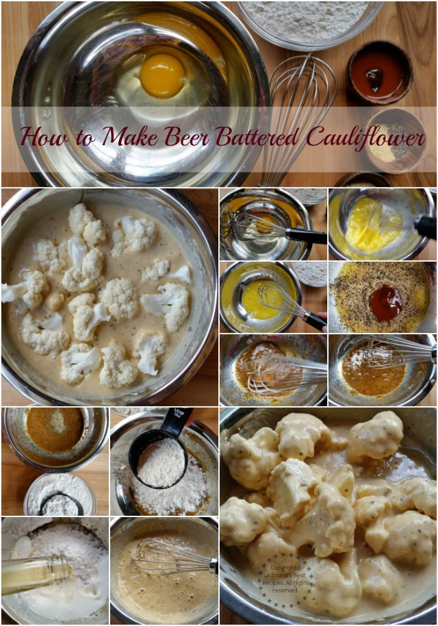 How to make beer battered cauliflower #ABRecipes #SoyParaSoy #ad