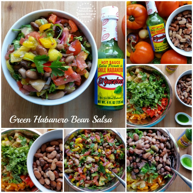 How to make green habanero bean salsa #KingOfFlavor #ad