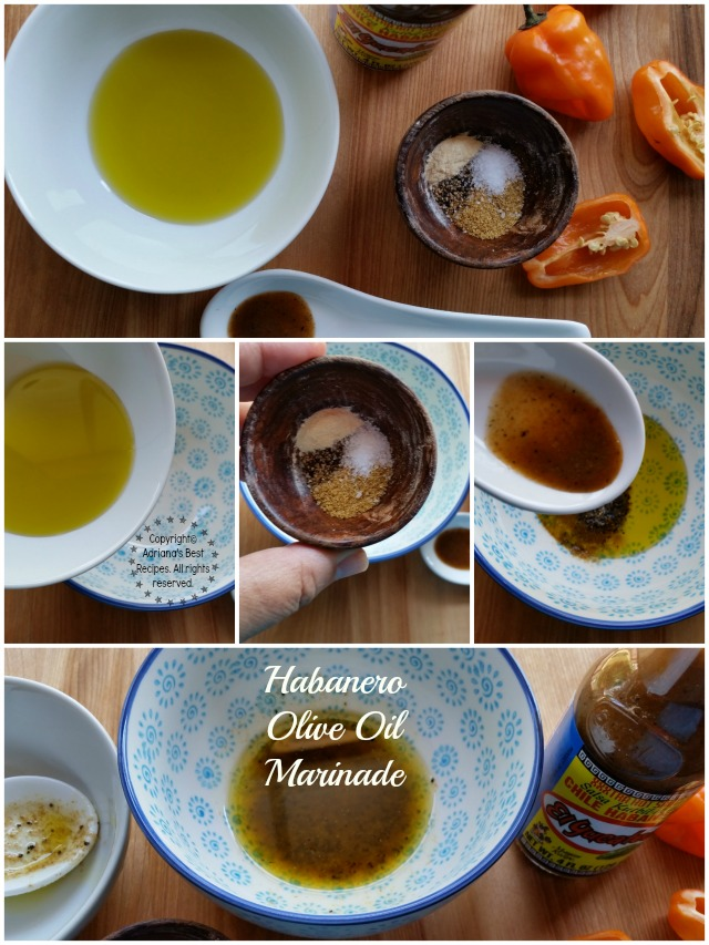 How to make habanero olive oil marinade #KingOfFlavor #ad