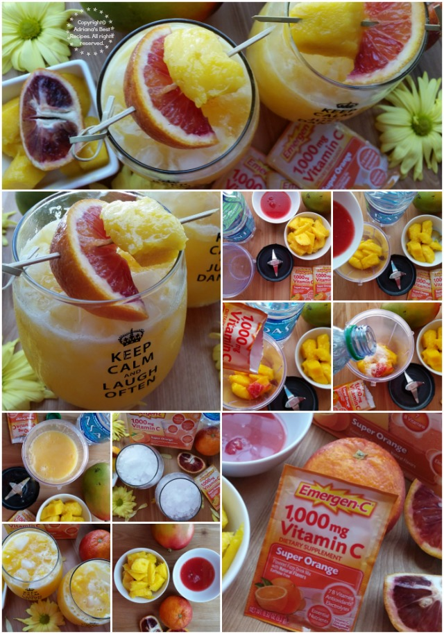 How to prepare the Mango Blood Orange Fizz #HealthyAndHydrated #Ad