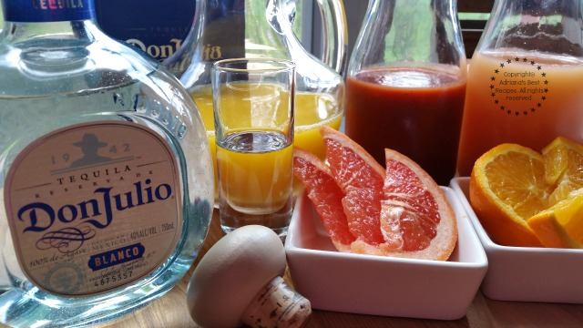 Ingredients to make the Vampiro Cocktail with Don Julio Tequila #DonJulio #ad