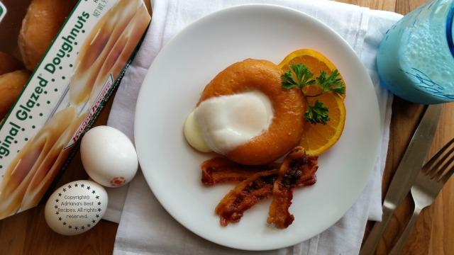 Loving my New Recipe for Sunny Side Up Doughnut Breakfast #ABRecipes