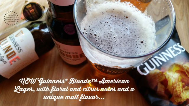 NEW Guinness Blonde American Lager with floral and citrus notes and a unique malt flavor #BlondeBBQChallenge #ad