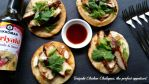 Teriyaki Chicken Chalupas the perfect appetizer recipe #KikkomanSaborLBC #ad