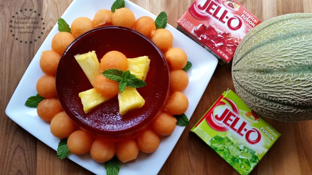 This recipe is very easy to make and has as the main ingredient JELL-O Tropical Fusion #ComidaKraft #ad
