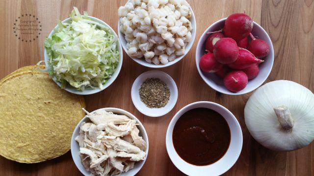 Ingredients for making the chicken pozole #ABRecipes #TASTE15