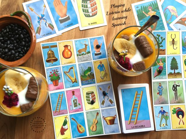 Playing la lotería while learning new words in Spanish