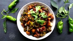 Roasted Yams and Shishito Peppers Hash