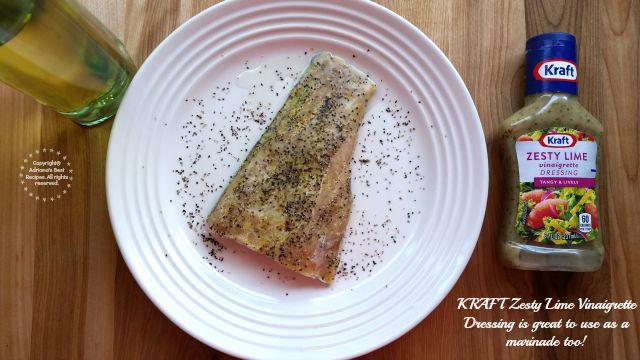 KRAFT Zesty Lime Vinaigrette Dressing is great for marinades #ComidaKraft #ad