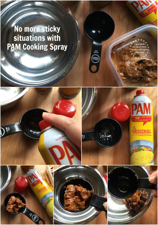 Use PAM Cooking Spray when measuring dulce de leche in your recipes #PAMCookingSpray #ad