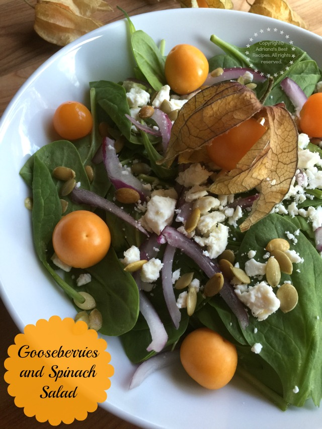 Delicious gooseberries and spinach never be afraid of produce and trying new things #ABRecipes