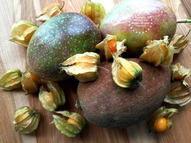 Fresh mamey or zapote gooseberries and passion fruit #TeamFreshSummit #ad
