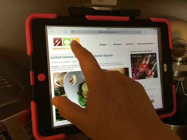 I can reference recipes take notes and even take phone calls without leaving my kitchen #UpperDesk #ad