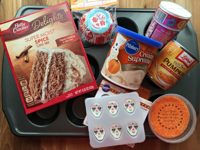 Ingredients for the Sugar Skull Pumpkin Cupcakes #ABRecipes