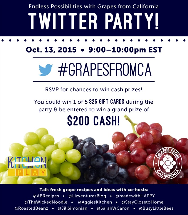 Join the Grapes from California Twitter Chat #GrapesfromCA  #ad