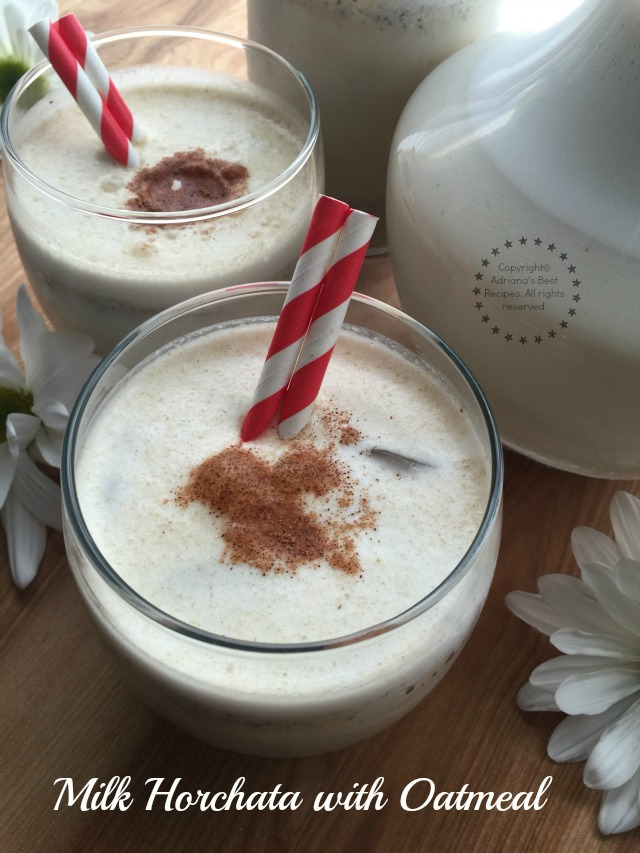 Milk Horchata with Oatmeal to celebrate Hispanic Heritage Month #HerenciaLeche #ad