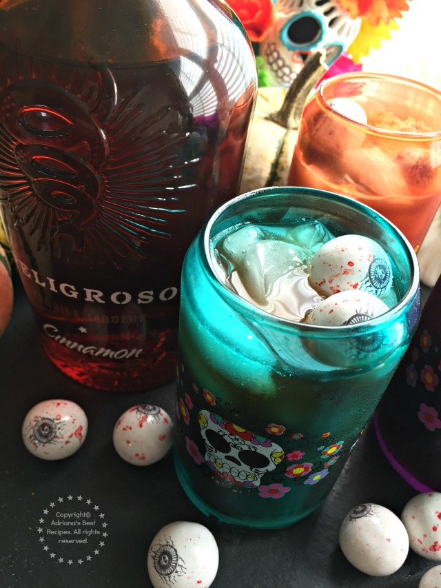 Peligroso Tequila Iced Coffee Recipe for Halloween or Day of the Dead #PeligrosoTequila #ad