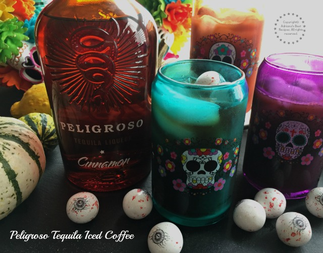 Peligroso Tequila Iced Coffee for Halloween or Day of the Dead Festivities #PeligrosoTequila #ad