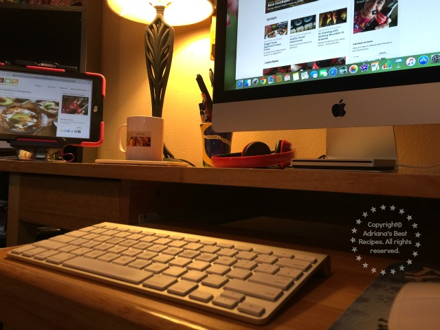 The Upper Desk Table Mount allows me to keep my desk free of clutter and to have my iPad handy #UpperDesk #ad