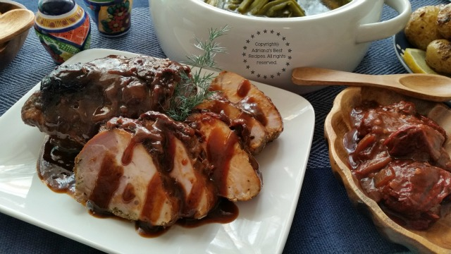 Chipotle Prune Pork Loin a sweet spicy and delightful dish