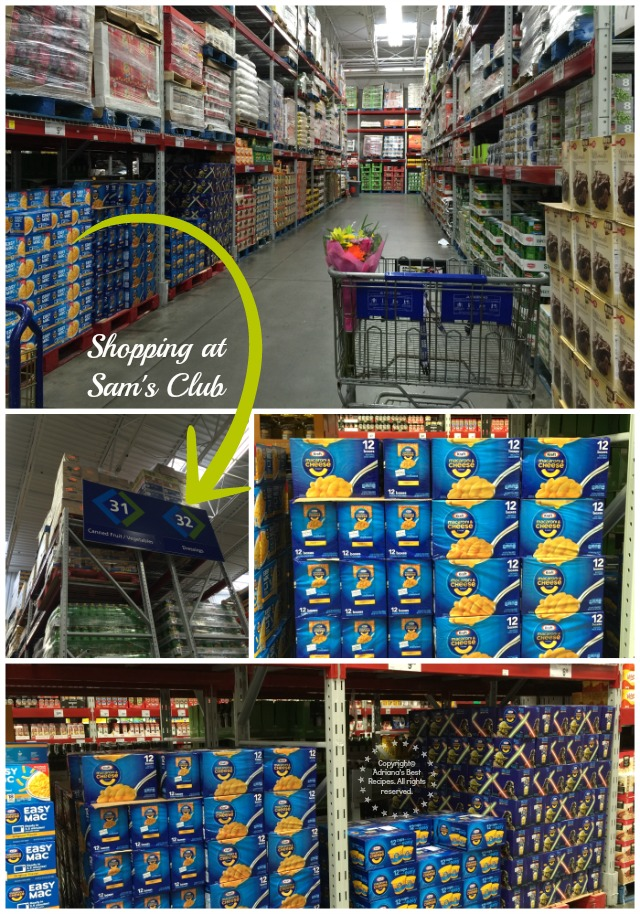 Shopping at Sam's Club for Kraft Foods #EasyKraftMeals AD