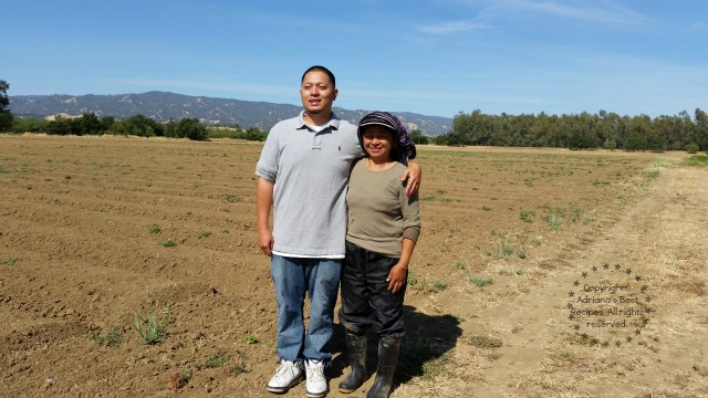 Thanking Farmers. T&Y Strawberry Patch Owners at Yolo County California.